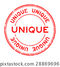 Grunge red unique round rubber seal stamp 28869696