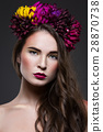 makeup wreath flower 28870738