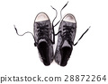 Vintage sneakers on a white background 28872264