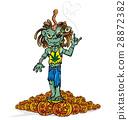 zombie rock cartoon 28872382