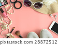 Woman stuff, makeup, cellphone and accessories 28872512