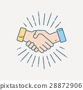 Vector greeting, deal icon 28872906