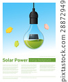 Energy concept background with solar panel 28872949