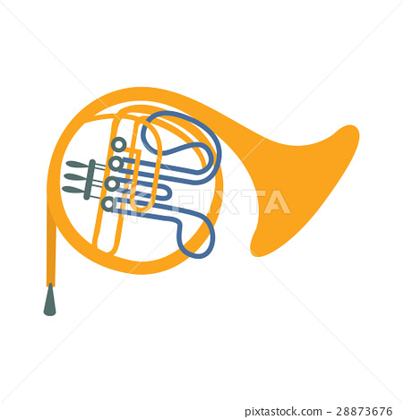 Brass Horn, Part Of Musical Instruments Set Of 28873676