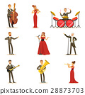 Adult Musicians And Singers Performing A Musical 28873703