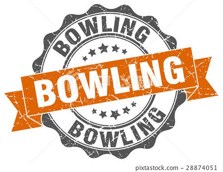 bowling stamp. sign. seal 28874051