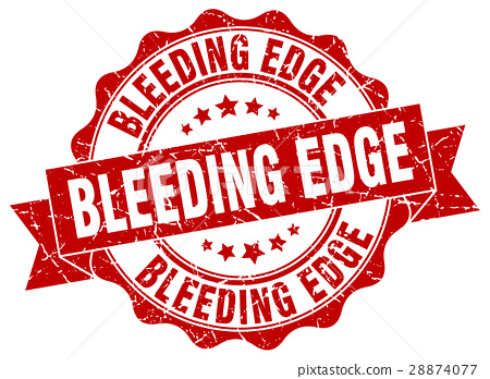 bleeding edge stamp. sign. seal 28874077