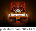 cinema, theater, building 28874471