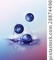 blueberry drop on juice splash and ripple 28874496