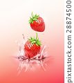 strawberry, vector, drop 28874500