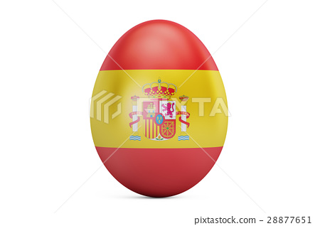 Easter egg with flag of Spain, 3D rendering 28877651