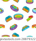 Sport complex pattern, cartoon style 28879322