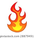 flame, icon, cartoon 28879491