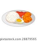 Bento, Japanese food icon, cartoon style 28879565