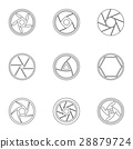 Aperture icons set, outline style 28879724