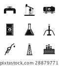 oil, icon, vector 28879771