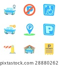 parking, station, icon 28880262