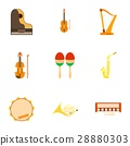 musical instruments icon 28880303