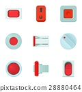 Click button icons set, cartoon style 28880464
