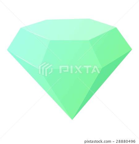 Diamond icon, cartoon style 28880496