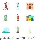 Tourism in Brazil icons set, cartoon style 28880523