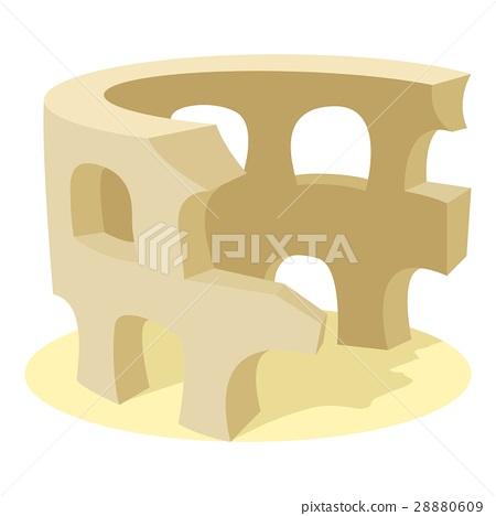 Coliseum icon, cartoon style 28880609