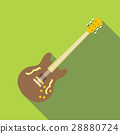 Electric guitar icon, flat style 28880724