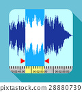 Music frequency icon, flat style 28880739