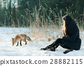 狐狸 动物 女人 28882115