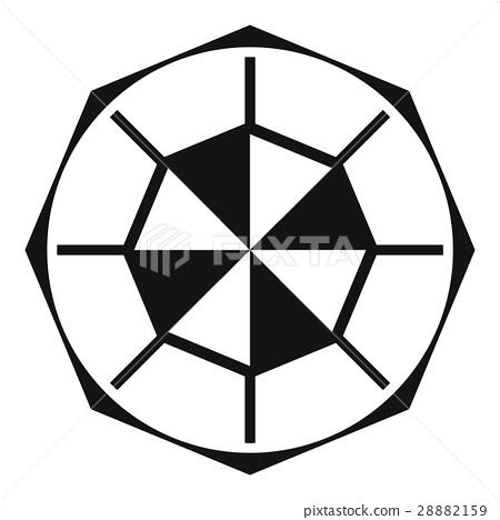 Diamond gemstone icon, simple style 28882159