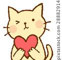 动物 心 猫咪 28882914