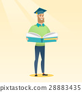 Graduate with book in hands vector illustration. 28883435