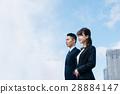 นักธุรกิจ,ท้องฟ้าเป็นสีฟ้า,อาคาร 28884147