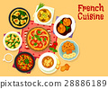 French cuisine tasty dinner icon for food design 28886189