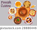 finnish, cuisine, vector 28886446