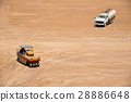 Construction Site With Compactor And Water Wagon 28886648