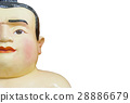 Fat Face Sumo Doll Isolated On White Background 28886679