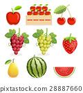 Pineapple and banana fruit. Vector illustration. 28887660