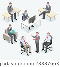 Group of business man isometric design.  28887663