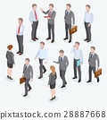 Group of business human isometric design. 28887668