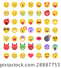 Emoji emoticons symbols icons set. 28887755