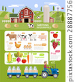 Farming infographic elements template. 28887756
