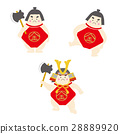 children's day, kintaro, diamond-shaped apron 28889920