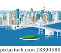 tokyo, rainbow bridge, cityscape 28890380