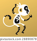Monkey vector illustration. 28890878