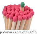 Matches - leadership concept on a white 28891715