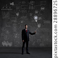 Businessman on a schematic background 28896725