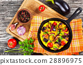 scrambled eggs and vegetables 28896975