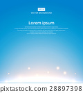 The sun rising with bright blue sky background 28897398