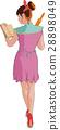 women cooking roller pin 28898049
